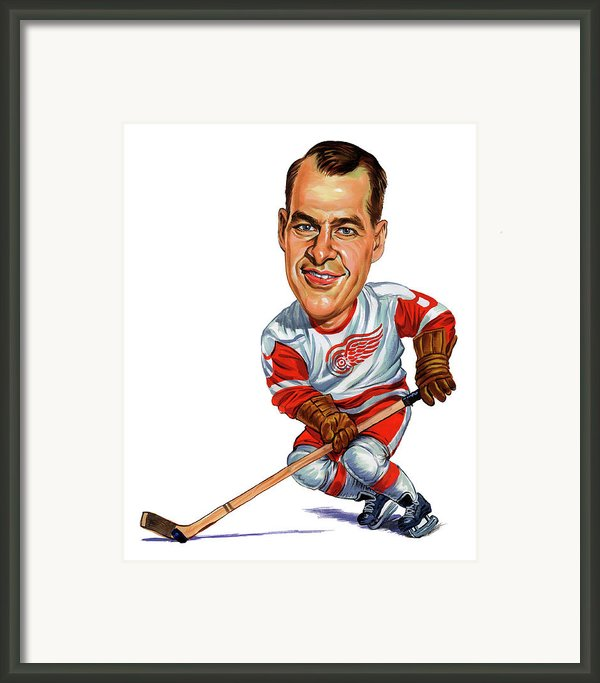 Gordie Howe Framed Print By Art