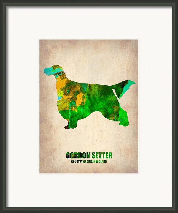 Gordon Setter Poster 2 Framed Print By Irina  March
