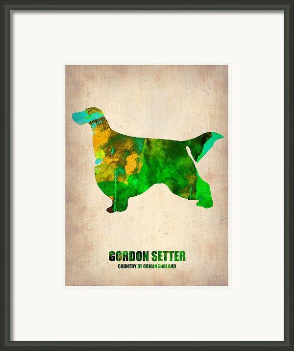 Gordon Setter Poster 2 Framed Print By Naxart Studio