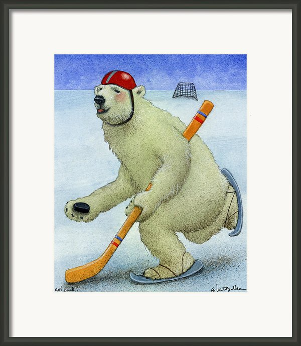 Got Puck... Framed Print By Will Bullas