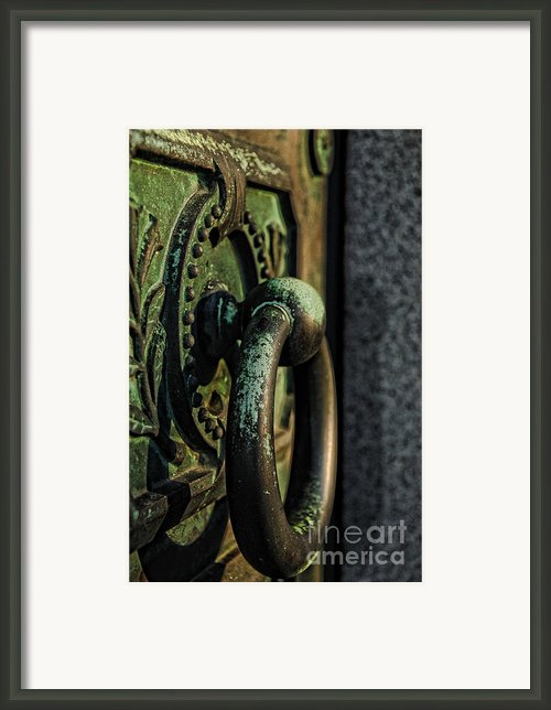 Goth - Crypt Door Knocker Framed Print By Paul Ward