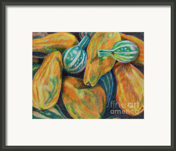 Gourds For Sale Framed Print By Janet Felts