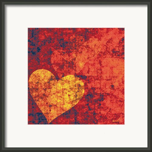 Graffiti Hearts Framed Print By Marsha Charlebois
