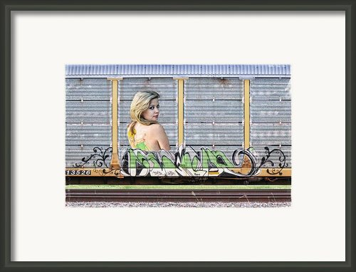 Graffiti - Tinkerbell Framed Print By Graffiti Girl