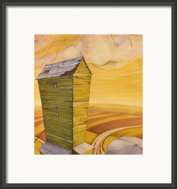 Grain Tower - Ii Framed Print By Scott Kirby