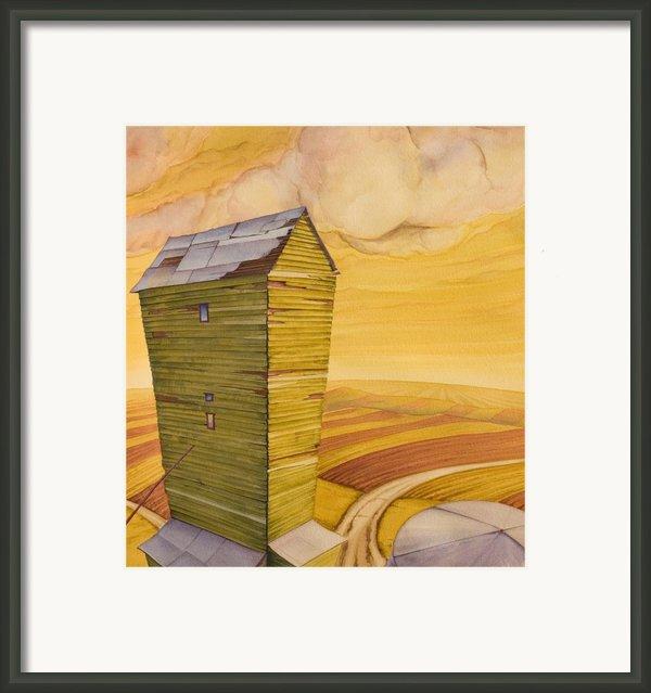 Grain Tower - Ii Framed Print By Scott Kirby