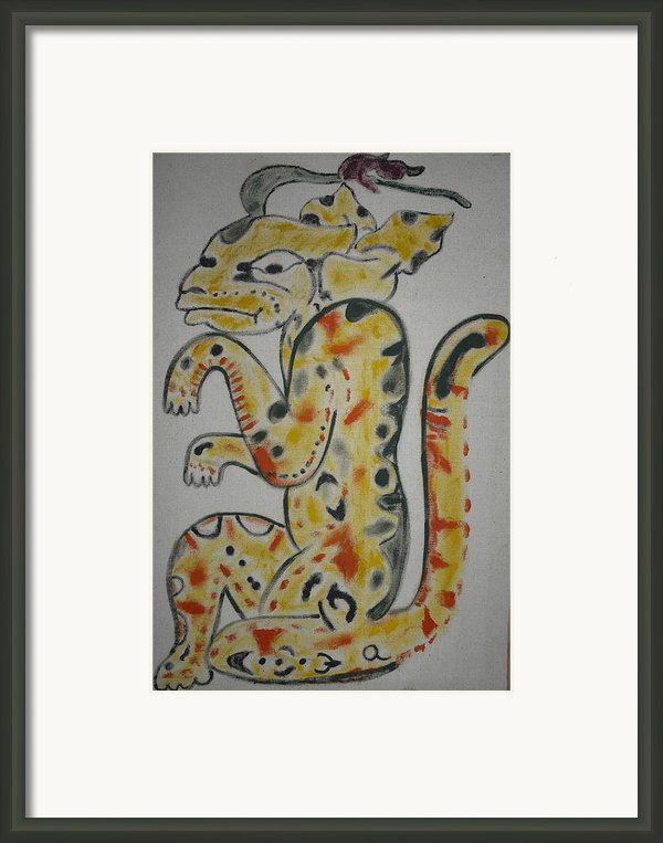 Gran Jaguar Framed Print By Juan Francisco Zeledon