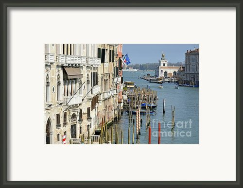 Grand Canal View From Academia Bridge Framed Print By Sami Sarkis