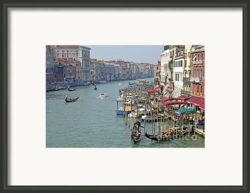 Grand Canal Viewed From Rialto Bridge Framed Print By Sami Sarkis