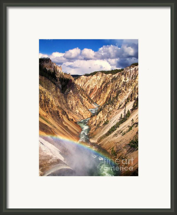Grand Canyon Of Yellowstone 1 Framed Print By Thomas Woolworth