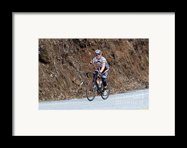 Grand Fondo Bike Ride Framed Print By Susan Leggett