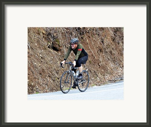 Grand Fondo Rider Framed Print By Susan Leggett