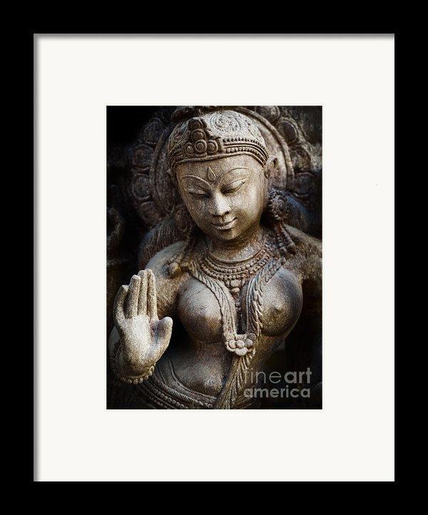 Granite Indian Goddess Framed Print By Tim Gainey