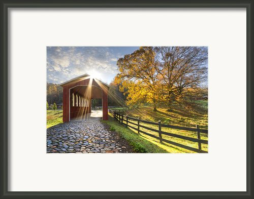 Granny Squirrel Bridge Framed Print By Debra And Dave Vanderlaan