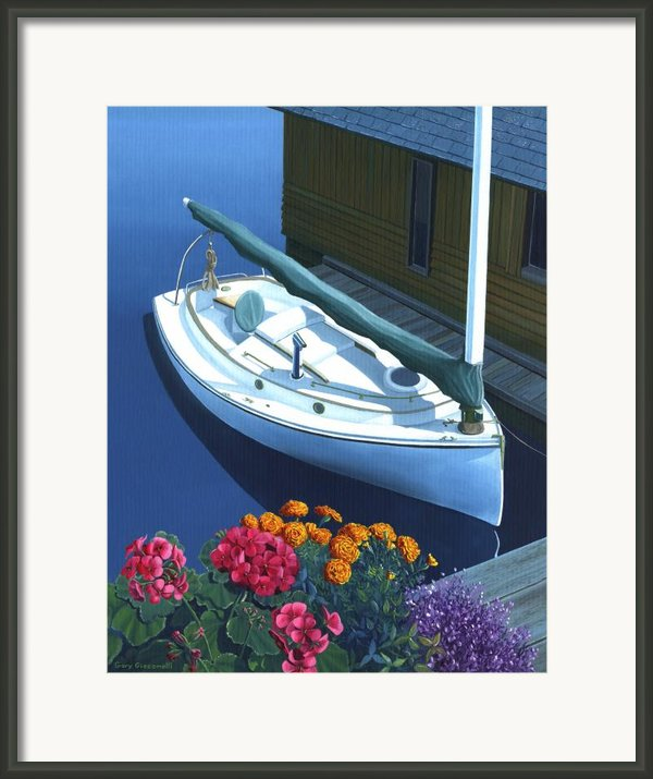 Granville Island Catboat Framed Print By Gary Giacomelli
