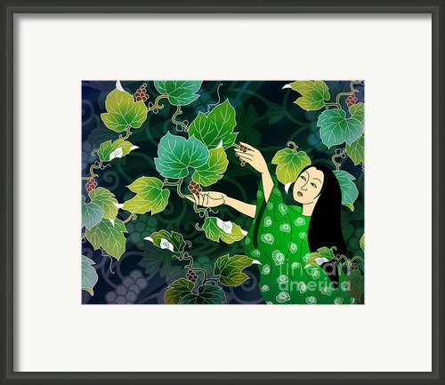 Grape Picking Framed Print By Bedros Awak