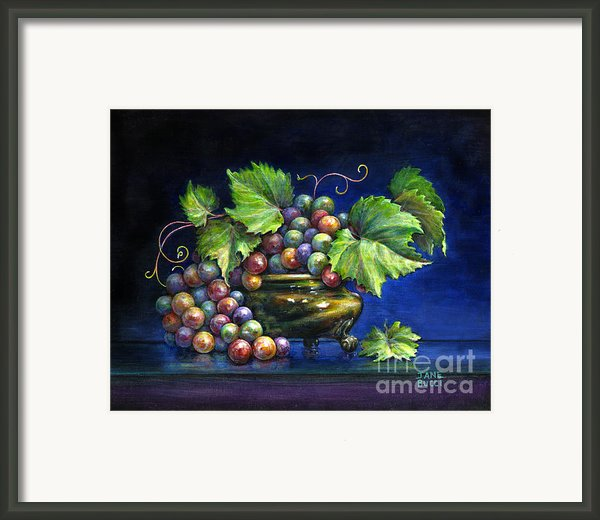 Grapes In A Footed Bowl Framed Print By Jane Bucci