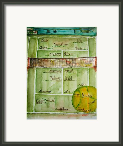 Grass Greats Framed Print By Elaine Duras