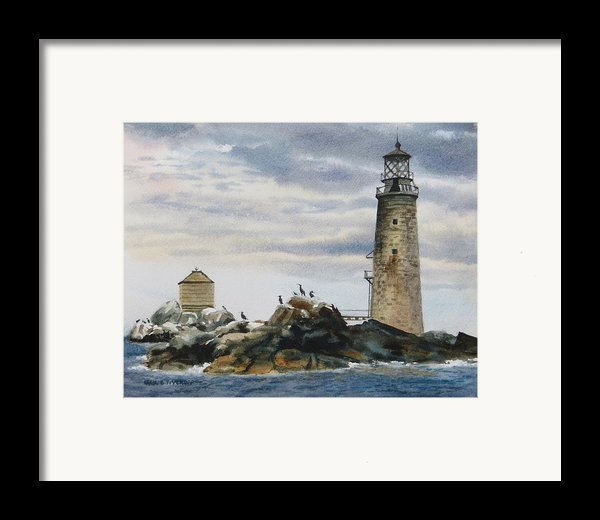Graves Light House Framed Print By Karol Wyckoff