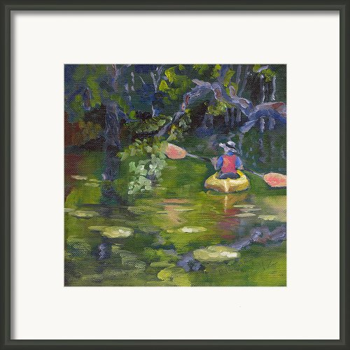 Great Day For A Paddle Framed Print By Susan Richardson