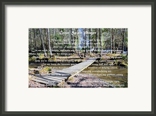Great Spirit Prayer Framed Print By Armand  Roux - Northern Point Photography