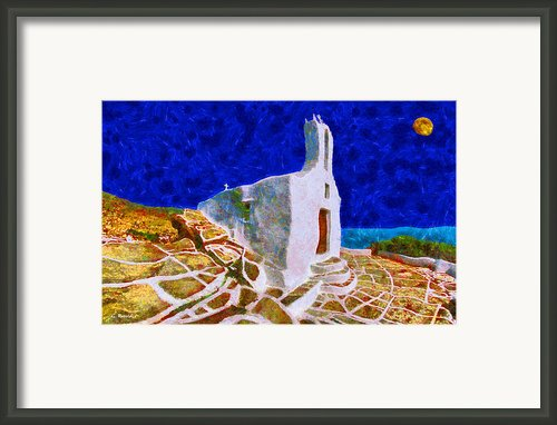 Greek Church 5 Framed Print By George Rossidis