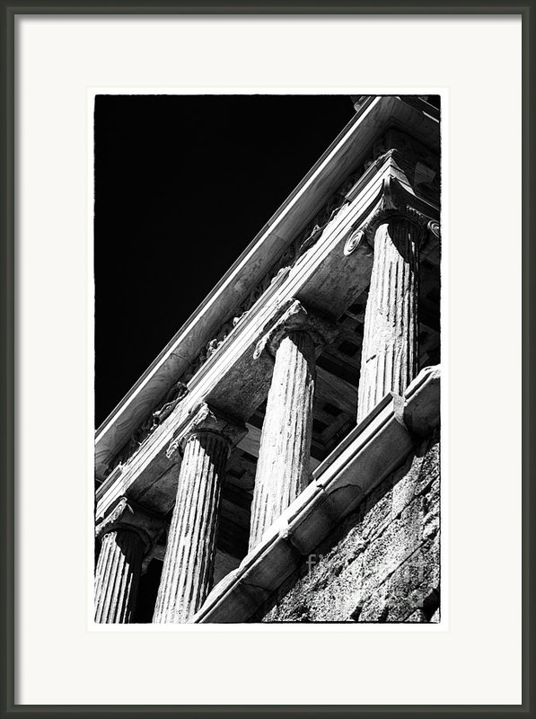 Greek Columns Framed Print By John Rizzuto
