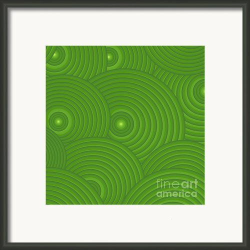 Green Abstract Framed Print By Frank Tschakert