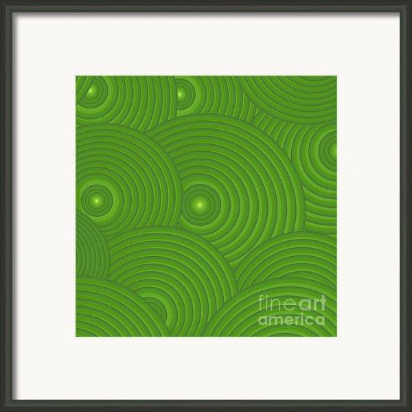 Green Abstract Framed Print By Frank Tschakert