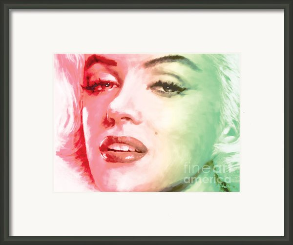 Green And Red Beauty Framed Print By Atiketta Sangasaeng