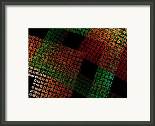 Green And Red Square  Framed Print By Mario  Perez