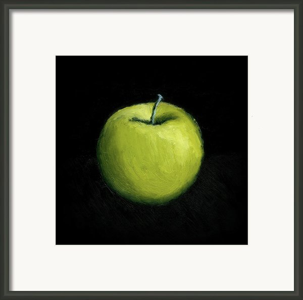 Green Apple Still Life Framed Print By Michelle Calkins