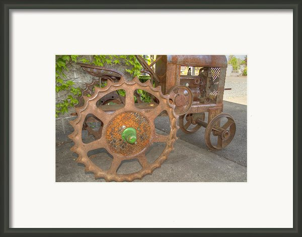 Green Axle Framed Print By Jean Noren