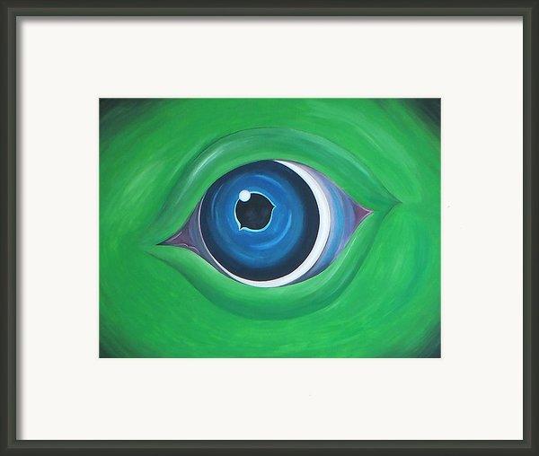 Green Beast Framed Print By Sven Fischer