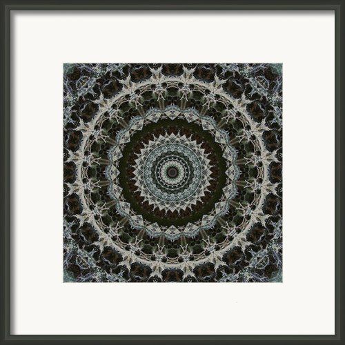Green Brown Mandala Framed Print By Kathi Shotwell