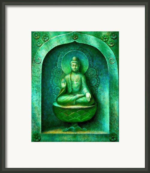 Green Buddha Framed Print By Sue Halstenberg
