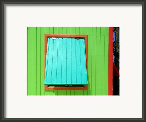 Green Cabin Framed Print By Randall Weidner