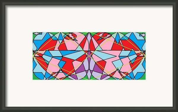 Green Diamond Framed Print By Rachael Mcintosh