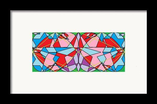 Green Diamond Framed Print By Rachael Mcintosh