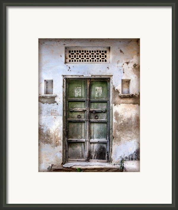 Green Door Framed Print By Catherine Arnas