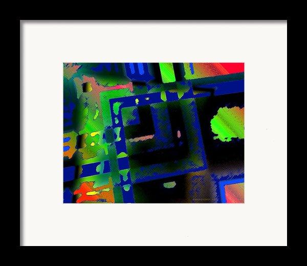 Green Geometric Spots Framed Print By Mario  Perez