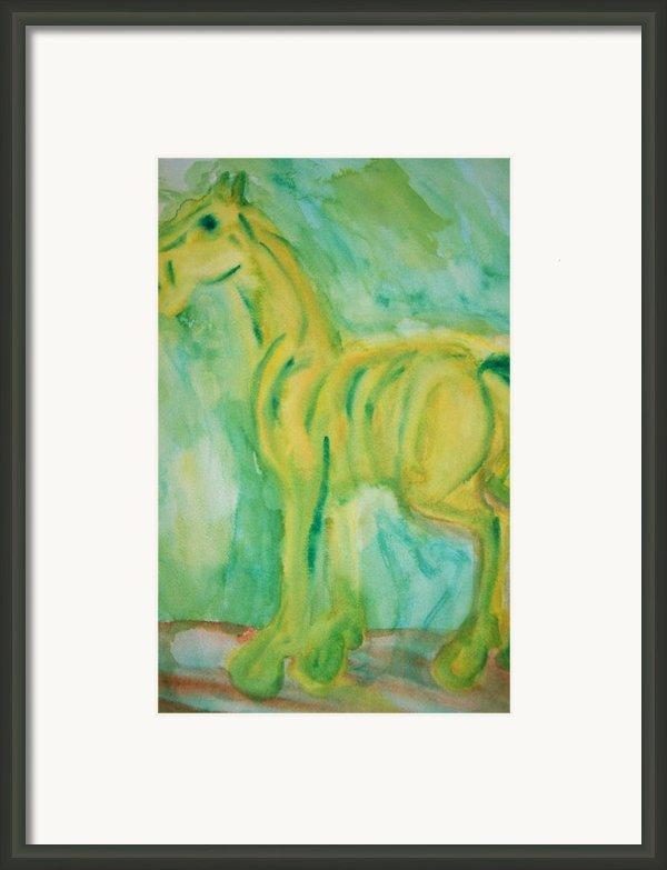 Green Hope Framed Print By Hilde Widerberg