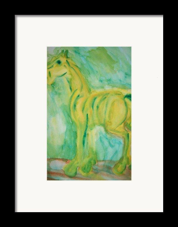 Green Hope Framed Print By Hilde Widerberg