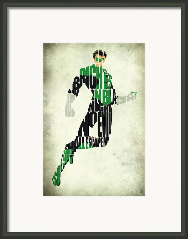 Green Lantern Framed Print By Ayse Deniz