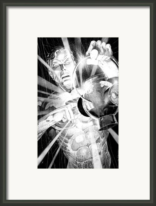 Green Lantern Framed Print By Ken Branch