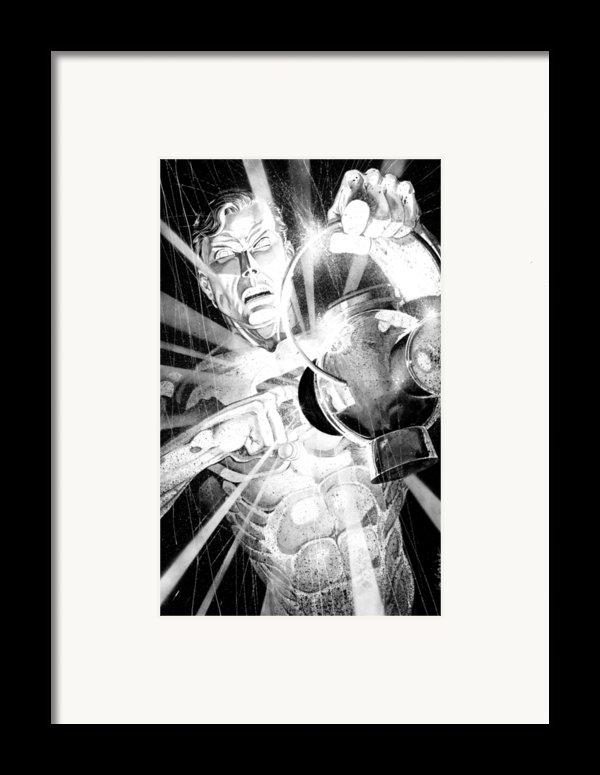 Green Lantern Framed Print By Ken Branch