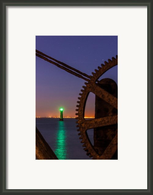 Green Lighthouse Framed Print By Semmick Photo