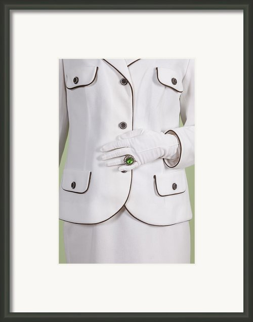 Green Ring Framed Print By Joana Kruse