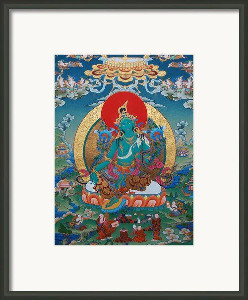 Green Tara Framed Print By Binod Art School