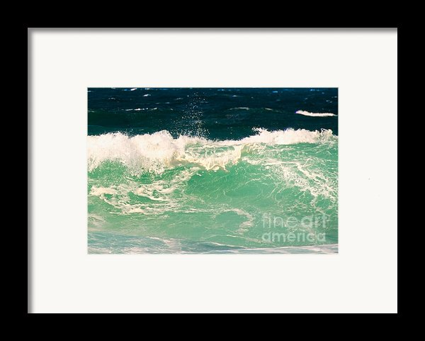 Green Wave Pacific Grove Ca  Framed Print By Artist And Photographer Laura Wrede